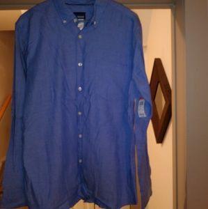 Basic Editions Men's long sleeve dressy shirt